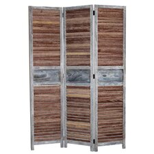 67 x 47 Antiquary 3 Panel Room Divider by Screen Gems