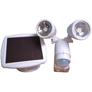 Outdoor solar security light wayfair solar dual head security 6 light led outdoor spotlight aloadofball Gallery