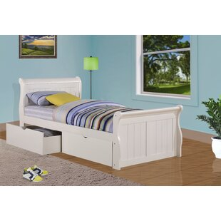 Great Price Drinkwater Sleigh Bed with Storage By Harriet Bee