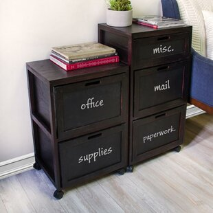 Rebrilliant Burholme Crated 3 Drawer Mobile Vertical Filing Cabinet