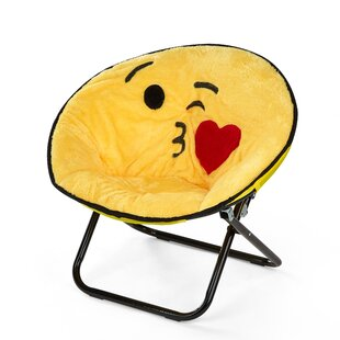 Sela Emoji Saucer Kids Chair by Zoomie Kids