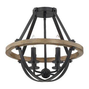 Gracie Oaks Thiele 4-Light Geometric Chandelier