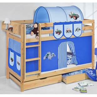 Belle Tractor European Single Bunk Bed By Zoomie Kids