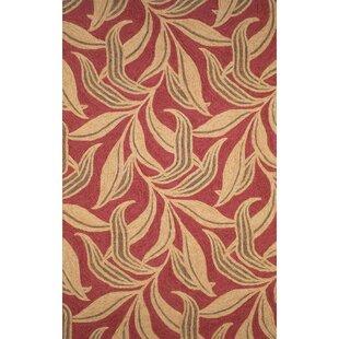Order Demirhan Red Leaf Indoor/Outdoor Area Rug Good price