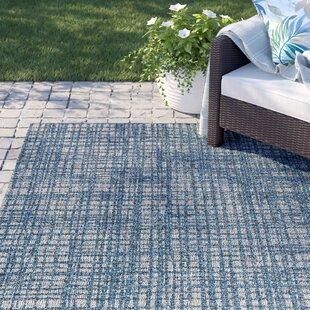 Amina Blue Abstract Indoor/Outdoor Area Rug