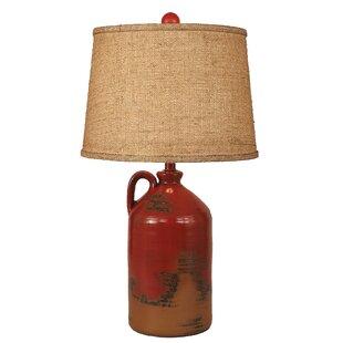 Rustic Living Handle Pottery Jug 27.5 Table Lamp