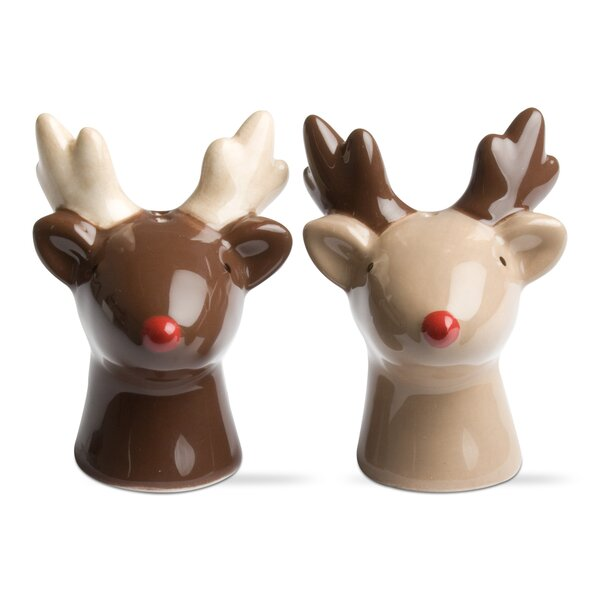 cheerful cool salt and pepper shakers.  Christmas Salt and Pepper Shakers You ll Love Wayfair