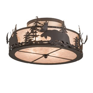 Loon Peak Beltzhoover 4-Light Semi Flush Mount