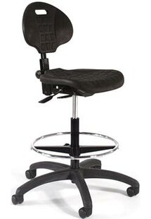 Height Adjustable Self Skin Laboratory Stool With Seat And Back Tilt by Intensa Great Reviews