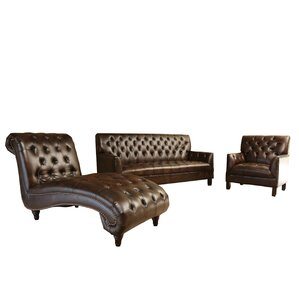 Straub 3 Piece Leather Living Room Set by Darby Home Co