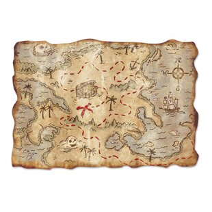 Jumbo Treasure Map Cutout Wall Décor