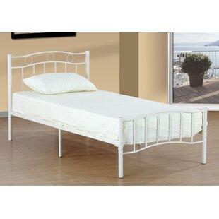 Harriet Bee Bellanger Metal Twin Slat Bed