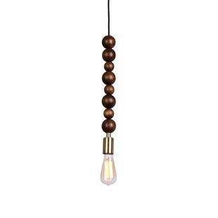 Alshain Round Beaded Swag 1-Light Bulb Pendant by Wrought Studio