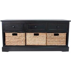 ardina wood storage entryway bench