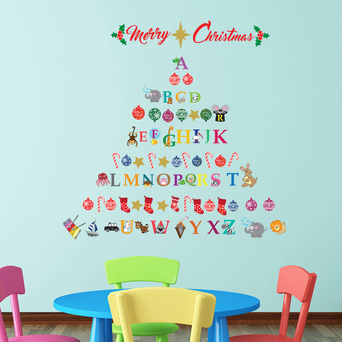Walplus French Christmas Wall Stickers Wall Art Decals Room Home Decorations