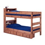 Chavarria Twin Over Twin Bunk Bed with Bookcase and Drawers