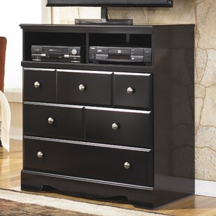 Read Reviews Chittum 3 Drawer Media Chest by Charlton Home