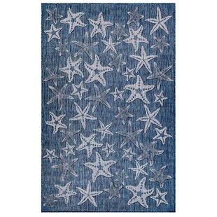 Desantiago Starfish Navy Indoor/Outdoor Area Rug