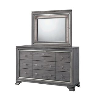 Mahood 10 Drawer Dresser with Mirror by Red Barrel Studio