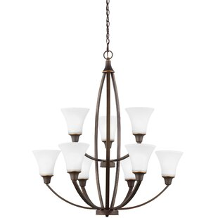Darby Home Co Irvona 9-Light Shaded Chandelier