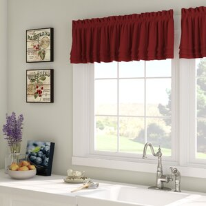 Red Valances & Kitchen Curtains You\'ll Love | Wayfair
