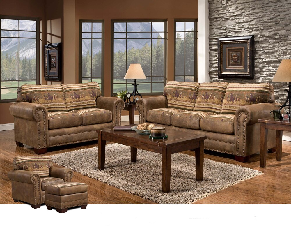 brown living room furniture sets. Wild Horses 4 Piece Living Room Set Sets You ll Love  Wayfair