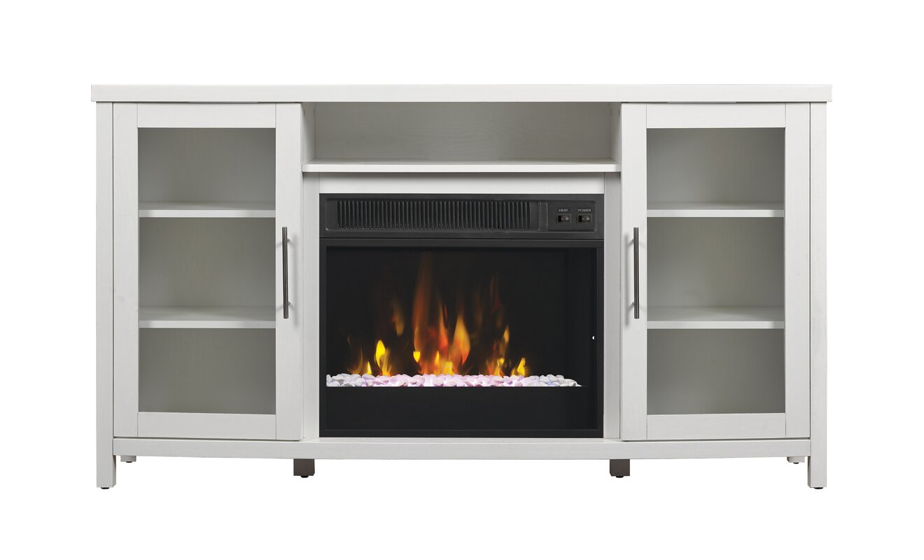 Byas 54 Tv Stand With Fireplace Reviews Birch Lane # Meuble Tele Bowl