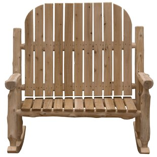 Mabe Two-Person Solid Wood Rocking Adirondack Chair