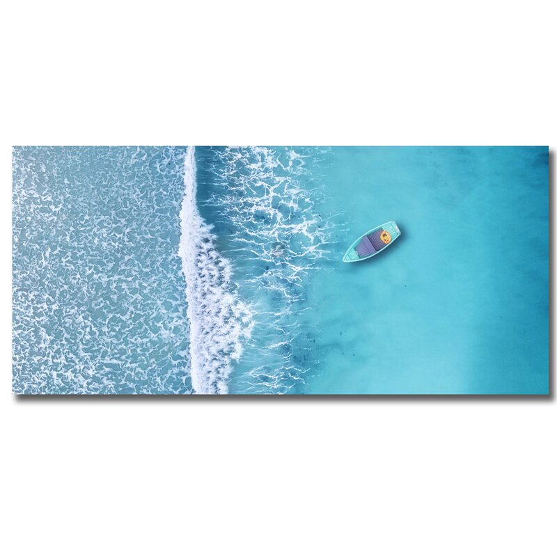 Decorumby Pacific Pastels Blue Panoramic Photograph Print Wayfair