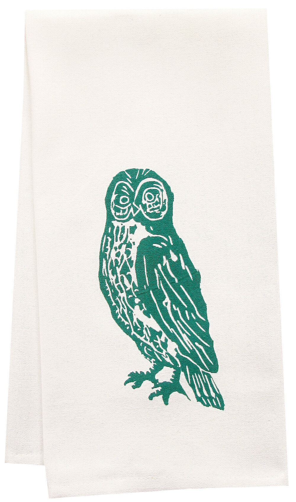 Artgoodies Organic Owl Block Print Tea Towel Reviews Wayfair