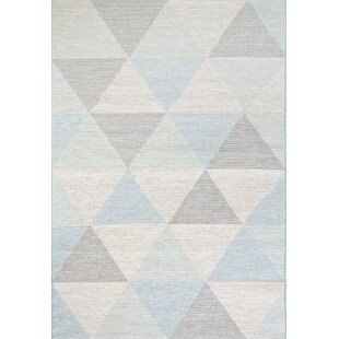 Mori Gray/Cream/Blue Indoor/Outdoor Area Rug