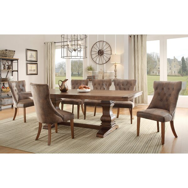 Dining Table lark manor parfondeval extendable wood dining table & reviews