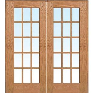 Wood 2 Panel Red Oak Interior French Door