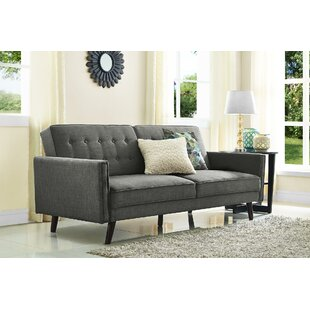 Ivy Bronx Farrington Gurney Linen Coil Convertible Sofa