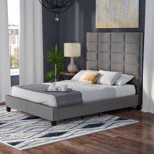 Rose Linen Tufted Platform Bed by Brayden Studio