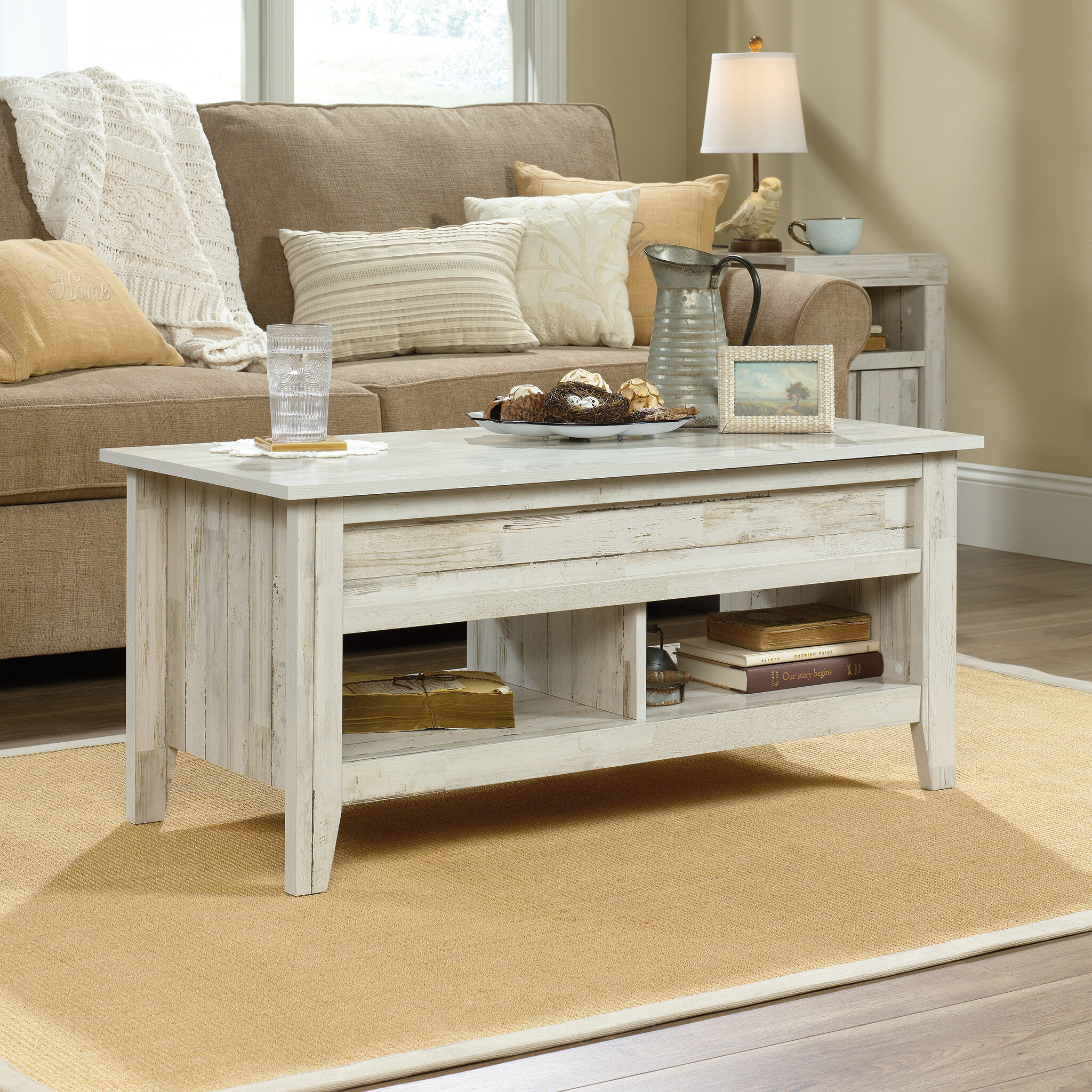 - Riddleville Lift Top Extendable Coffee Table With Storage