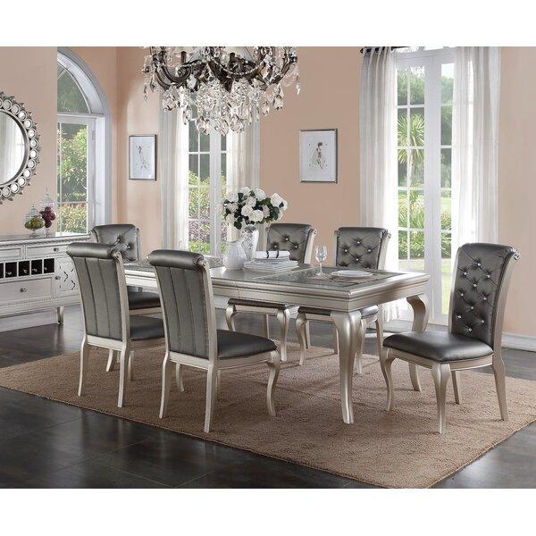 7 piece dining table rectangular infini furnishings adele piece dining set reviews wayfair