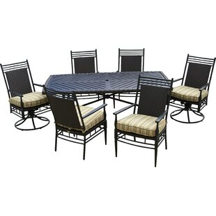 Outdoor Innovation Martin Patio 7 Piece Dining Set with Cushions