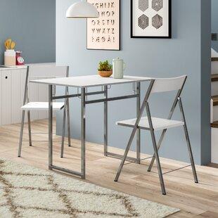 3 Piece Folding Dining Table By Mercury Row