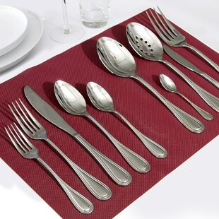 Astoria 45 Piece 18/10 Stainless Steel Flatware Set, Service for 8
