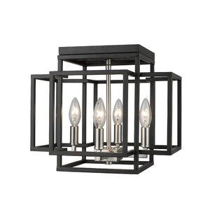Ivy Bronx Bedingfield 4-Light Flush Mount