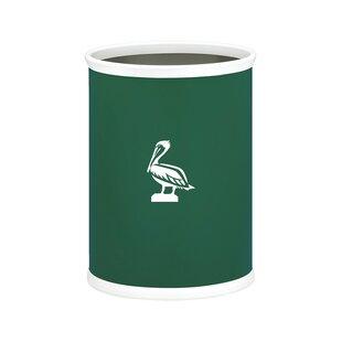 Kraftware Kasualware Pelican Oval 3.2 Gallon Waste Basket