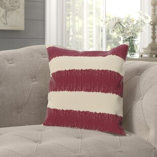 Alfaro Square Twisted Stripe Print Throw Pillow