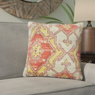 Ashly Ikat Cotton Throw Pillow (Set of 2)