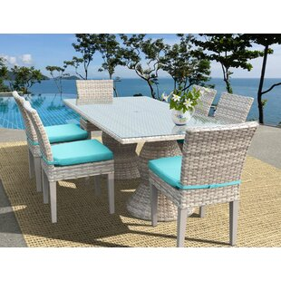 Rosecliff Heights Ansonia Wicker 7 Piece Outdoor Dining Set