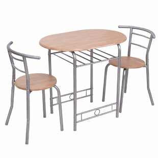Latitude Run Shingadia Bistro 3 Piece Breakfast Nook Dining Set