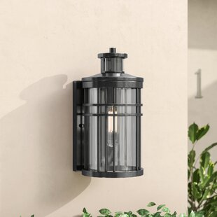 Read Reviews Sathvik Outdoor Wall Lantern with Motion Sensor By Brayden Studio