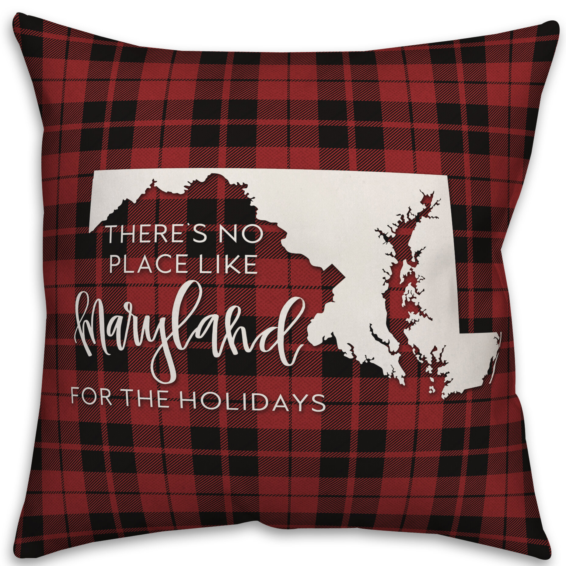The Holiday Aisle Grace There S No Place Like Maryland For The Holidays Throw Pillow Cover Wayfair
