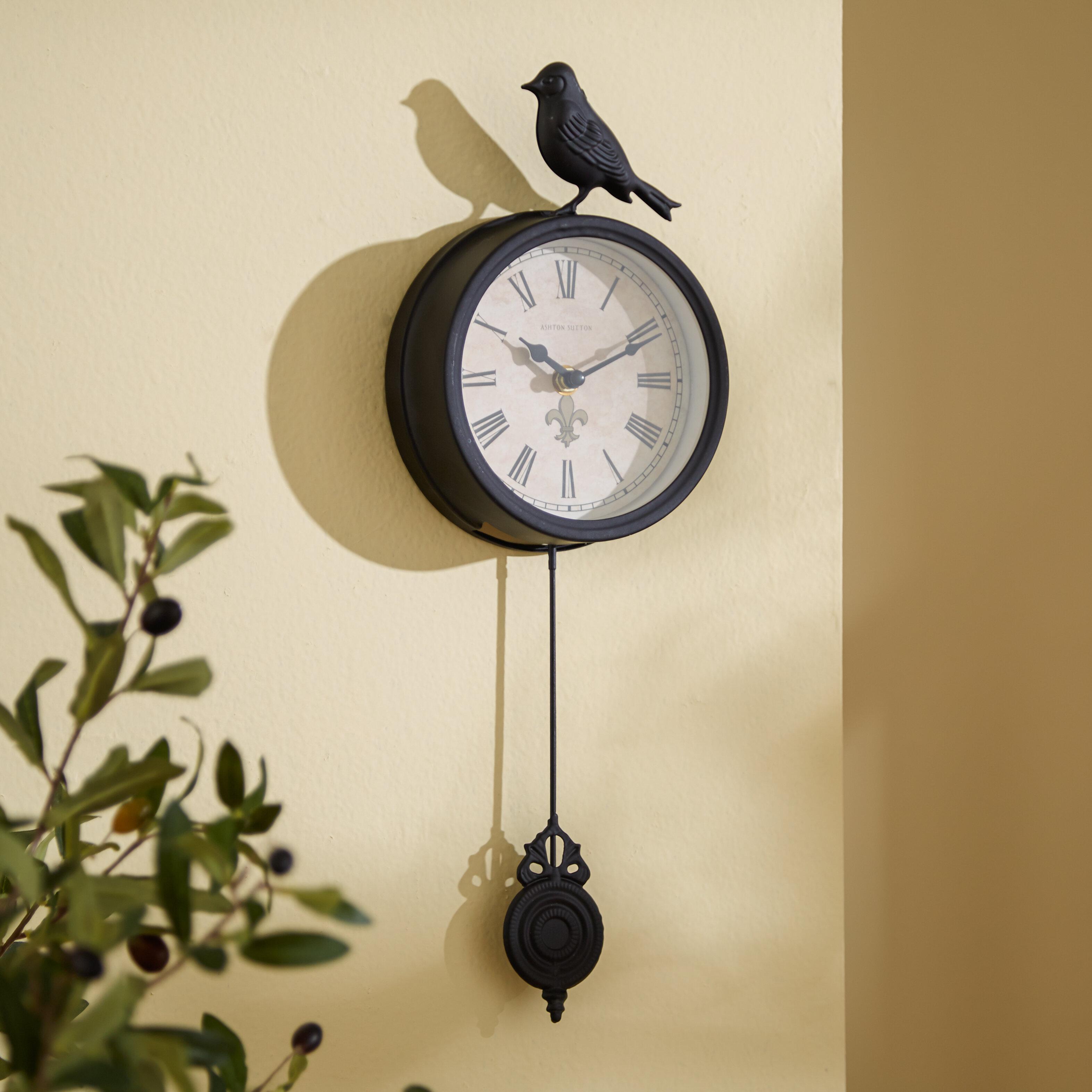 Three Posts 4 Bird Pendulum Wall Clock Reviews Wayfair