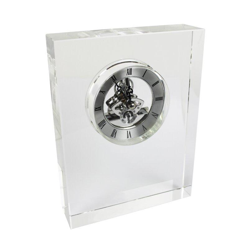Glass Modern Table Clock